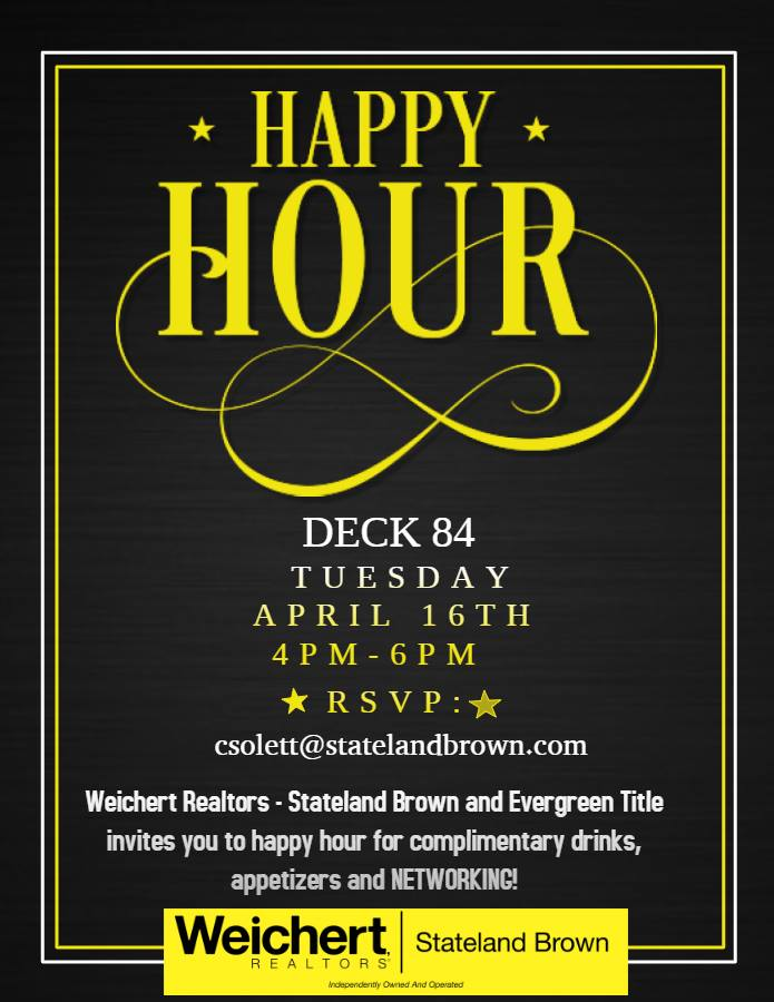 Come Network with Weichert, Realtors - ® Stateland Brown at Deck 84 in Delray on April 16th